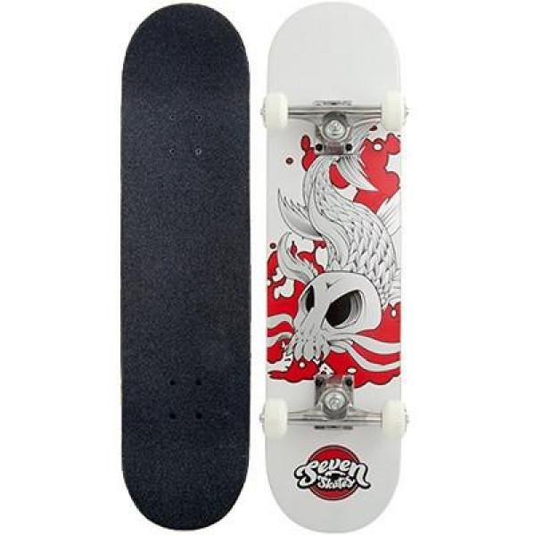 """Seven 7.25"""" Skull Carp Complete skateboard"""