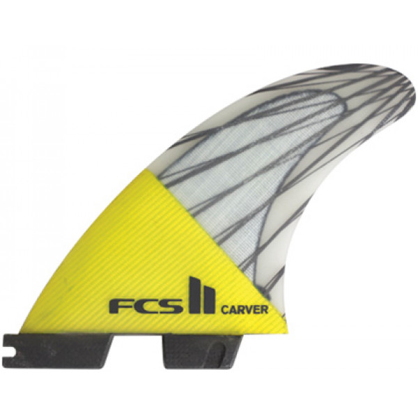 FCS II Carver PC Yellow Med Tri Fin Set