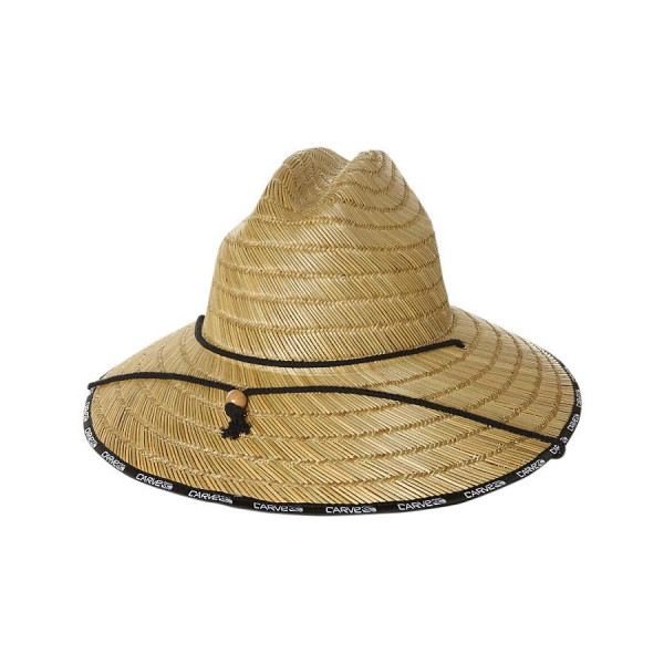 Carve Vertical Whip Straw Hat